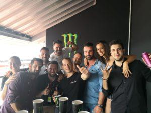 Monster Energy and Xtrematic team