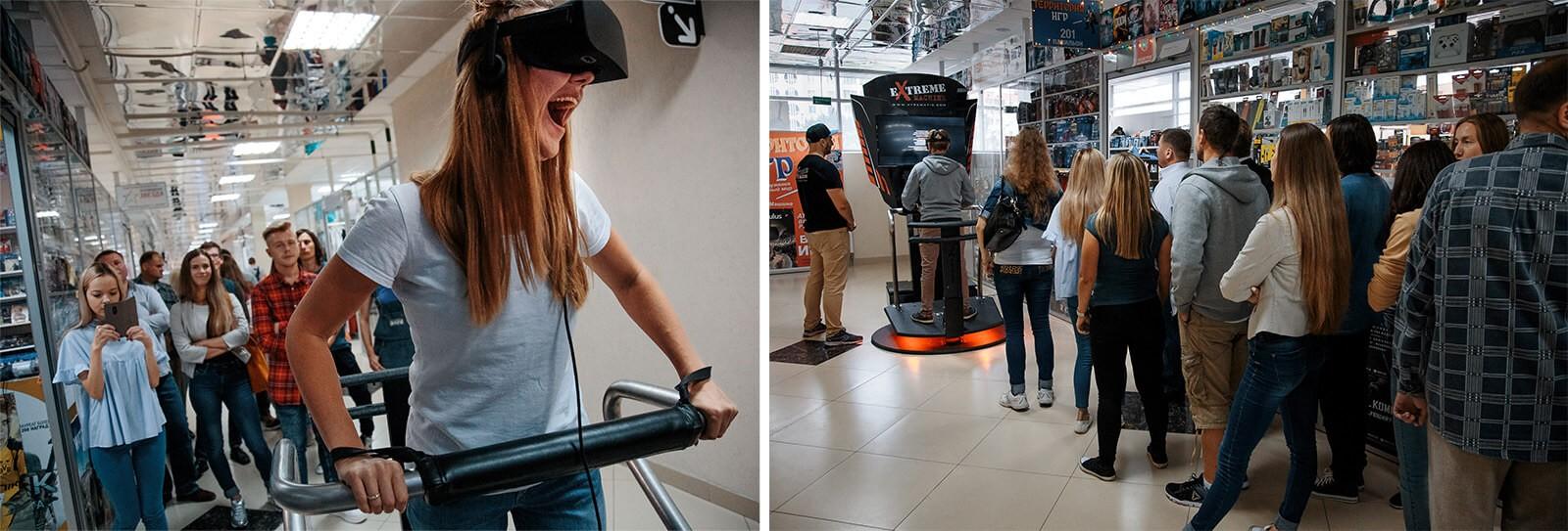 Автономные аттракционы для аркадных зон и VR парков X-Machine и X-Bike
